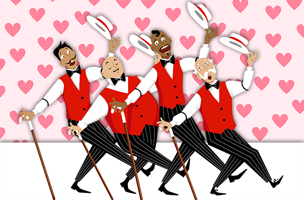 swoon your sweetie with a singing valentine