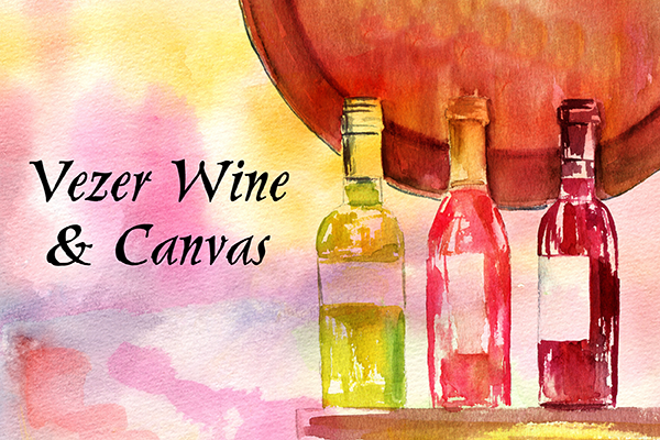 wine canvas night